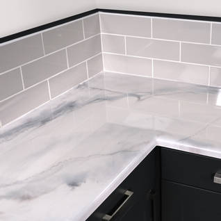 Carrara White Marble Countertop Kit Thumbnail